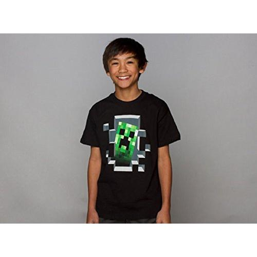 Transfer Tshirts jinx-official-licensed-minecraft-creeper-inside-boys-t-shirt-black Video Games