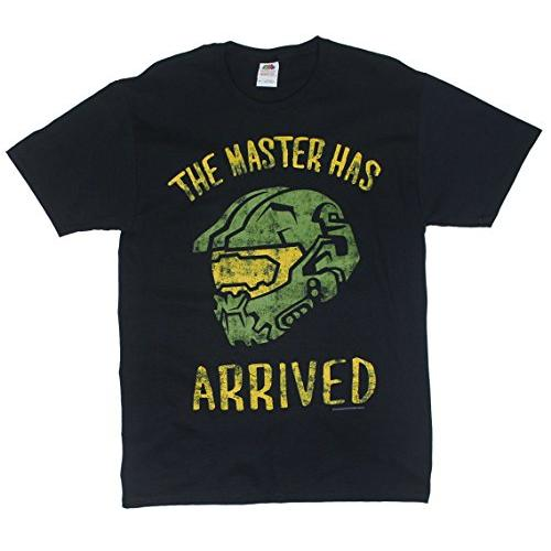 Transfer Tshirts halo-the-master-has-arrived-adult-black-t-shirt Video Games