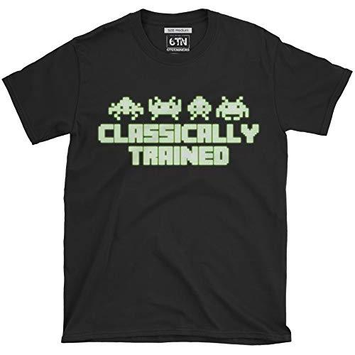6TN Classically Trained Glow in The Dark Retro Video Gamer T Shirt