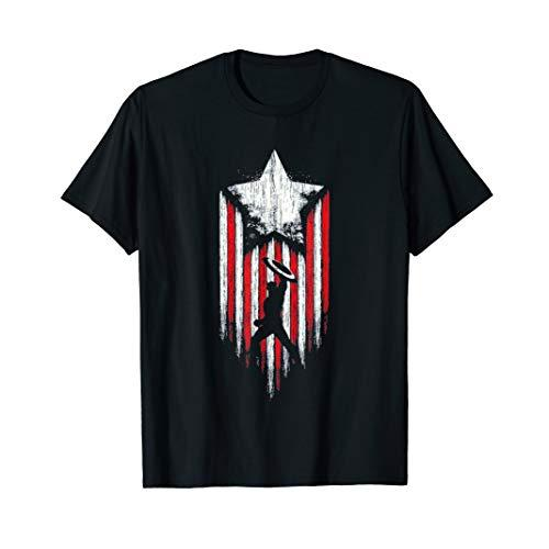 America Star Flag Super Heroes Costume Team Up Starr Flag T-Shirt