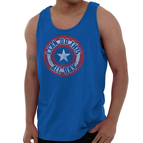 Brisco Brands I Can Do This All Day Comic American Hero Tank Top