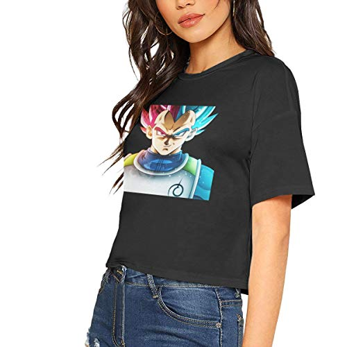 Dragon Ball Z Vegeta Sexy Exposed Navel Female T-Shirt Bare Midriff Crop Top T Shirts