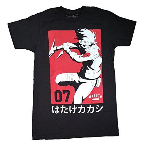 Fashion Naruto Shippuden Collection Black Graphic T-Shirt