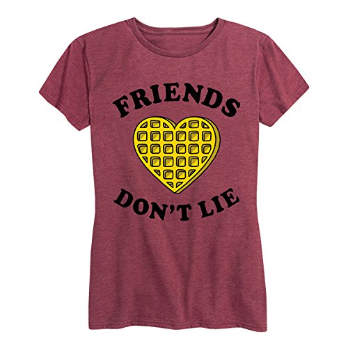 Friends Dont Lie Waffle - Ladies Short Sleeve Classic Fit Tee