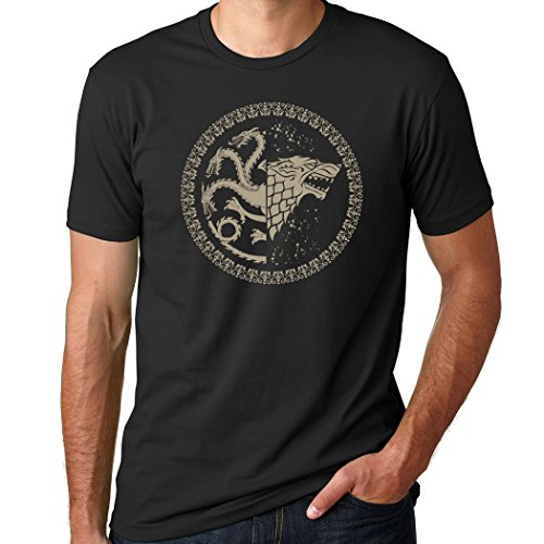 Game of Thrones Stark / Targaryen Sigil Black Shirt