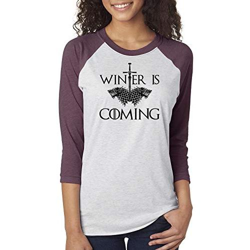 Games of Throne Winter is Coming Shirt Womens 3/4 Sleeve Shirt