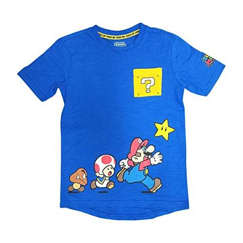 Isaac Morris Super Mario Boys Shirt with Mario Bowser Toad Mushroom