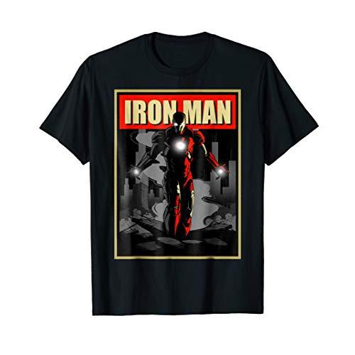 Marvel Iron Man Rise From The Ashes Deco Style T-Shirt
