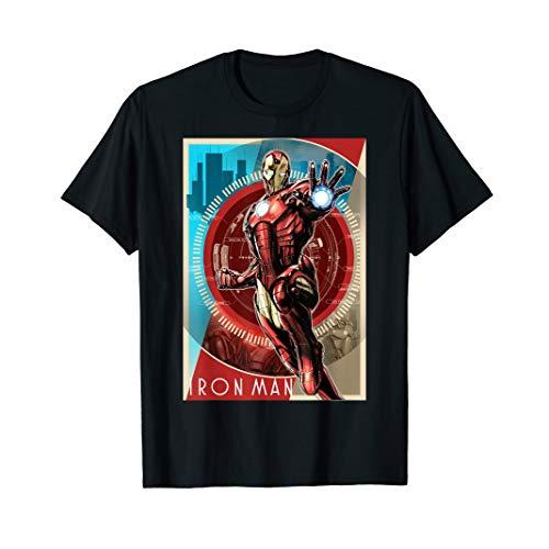 Marvel Iron Man Vintage Tech Poster T-Shirt