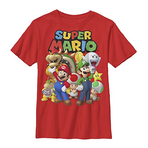 Nintendo Boys' Super Mario Groupage Graphic T-shirt