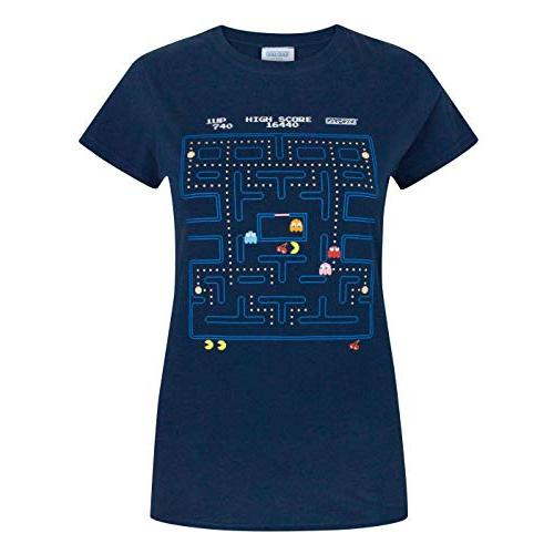 Pacman Classic Action Scene Womens T-Shirt
