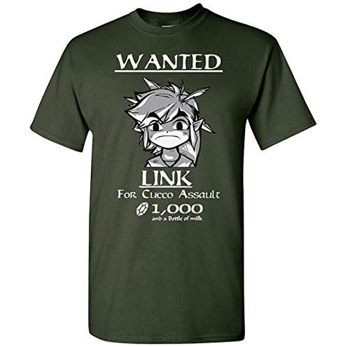 Link Wanted! Legend of Zelda T-Shirt Mens Kids Tee New XS - 5XL Adult Pop Culture Graphic Tee Nerdy Geeky Apparel