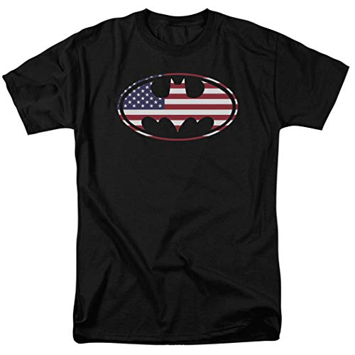 Popfunk Batman Patriotic Logo USA Flag T Shirt & Exclusive Stickers