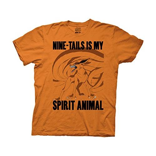 Ripple Junction Naruto - Shippuden Nine-Tails is My Spirit Animal Adult T-Shirt