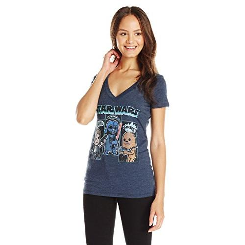 Star Wars Juniors' Cartoon Vader Chewie Luke Skywalker Graphic T-Shirt