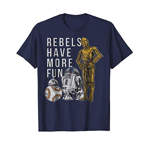 Star Wars Last Jedi Droids Rebels Have More Fun Gold T-Shirt