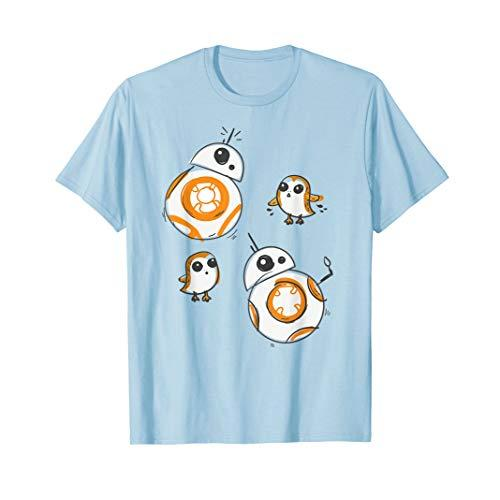 Star Wars Porg and BB-8 Doodle T-Shirt
