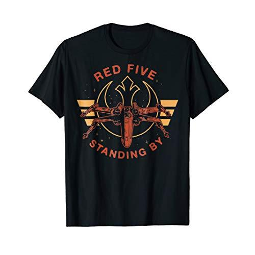 Star Wars Red Five Standing By X-Wing Rebels Graphic T-Shirt
