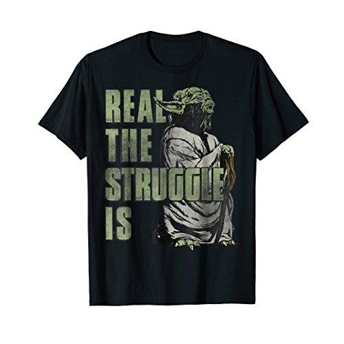 Star Wars Yoda Real The Struggle Is Graphic T-Shirt