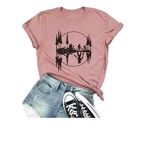 Upside Down Stranger Things T Shirt Women's Novelty Graphic 1983 T-Shirt Tees Casual Tops