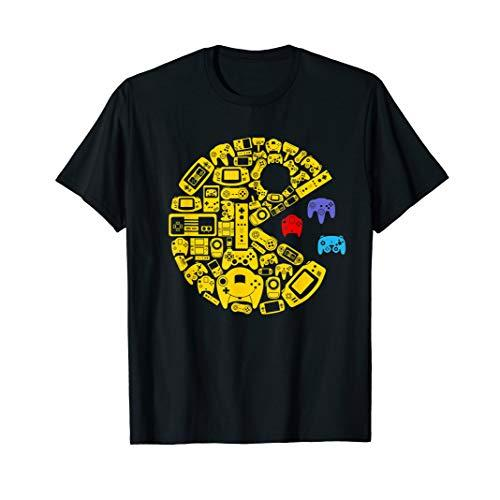video gamers classic vintage controller gamer t-shirt