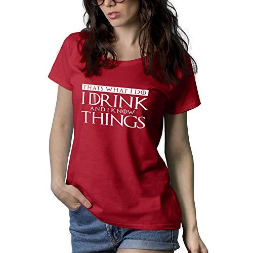 I Drink and I Know Things Shirt Womens - Game Tv Series Thrones Merchandise